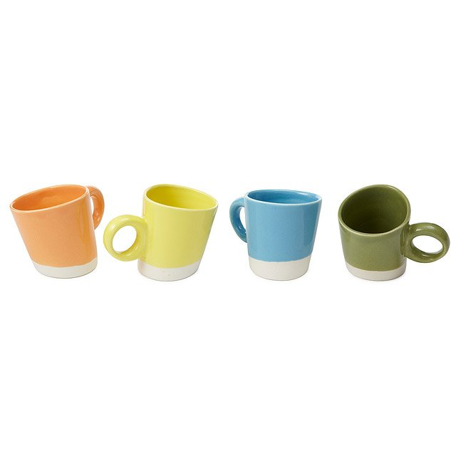Pisa Oga Espresso Mugs - Set of 4