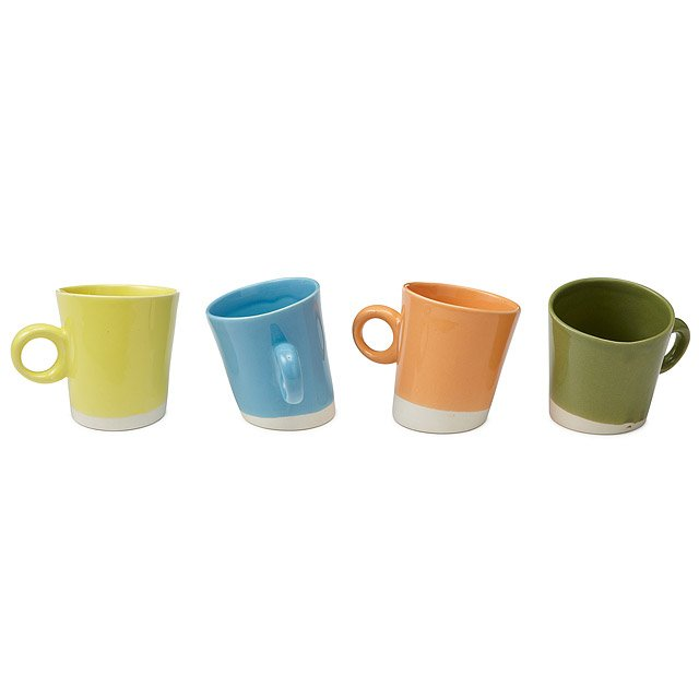 Pisa Oga Coffee Mugs - Set of 4