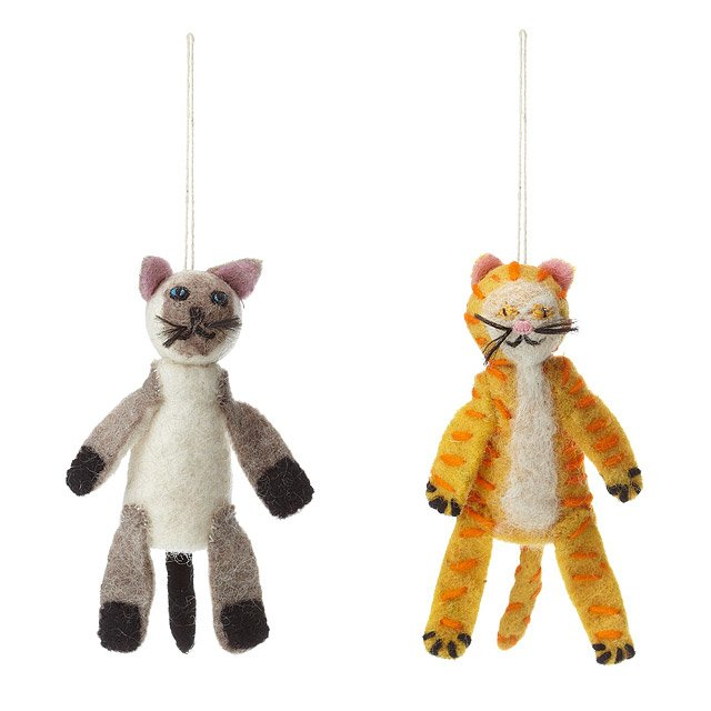 Felt Cat Finger Puppets