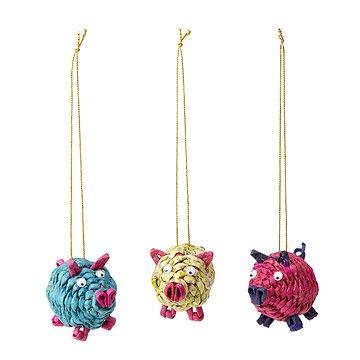 Pig Ornaments - Set of 3
