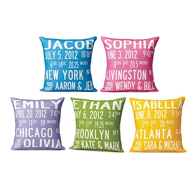 Birth Announcement Pillows 2