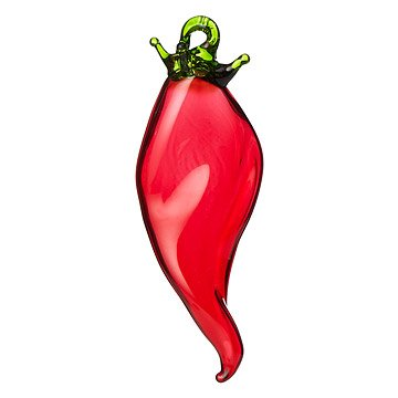 Handblown Glass Chili Pepper Ornament