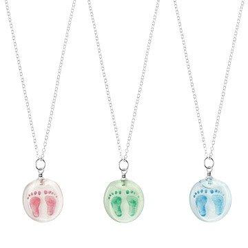 Custom Baby Footprint Stamp Necklace