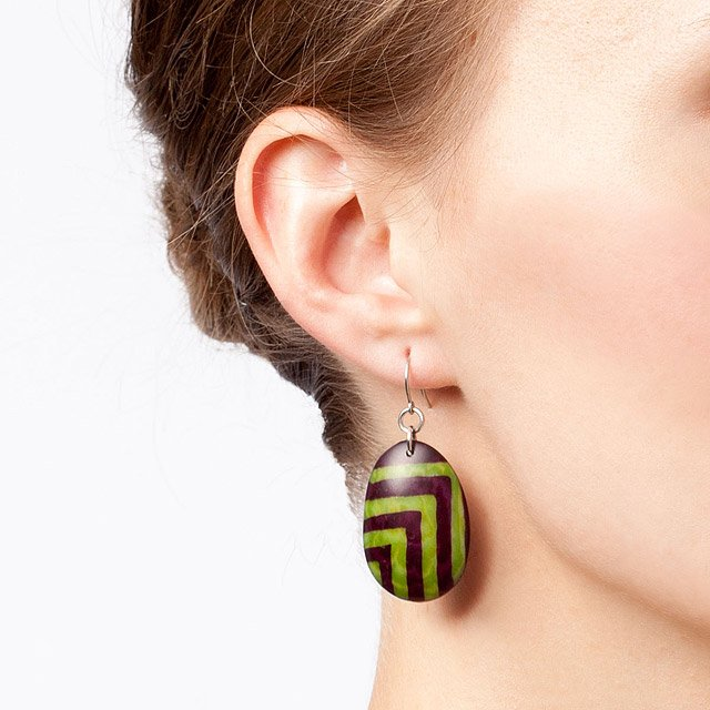 Batik Tagua Earrings 2