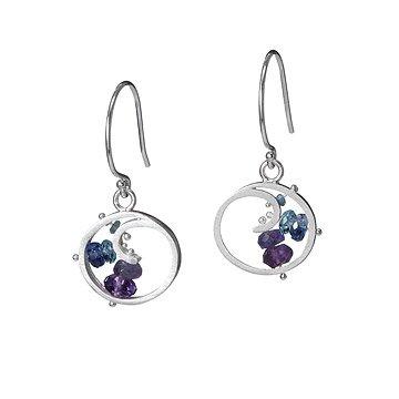 Berry Spiral Earrings
