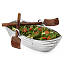 Row Boat Serving Bowl with Wood Serving Utensils 2 thumbnail