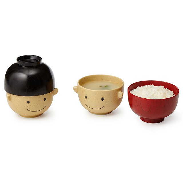 Wooden Smiley Face Bowls