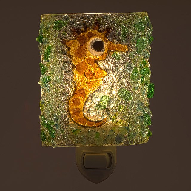 Recycled Glass Seahorse Night Light 2