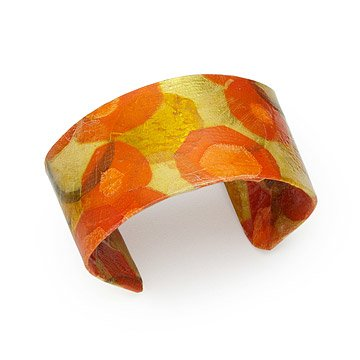 Carrot Parchment Collage Cuff