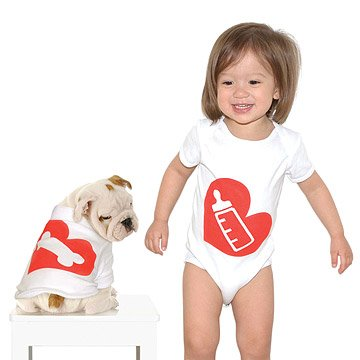 Bottle & Bone Babysuit & Dog Suit Set