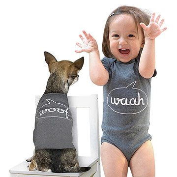 Waah & Woof Babysuit & Dog Suit Set