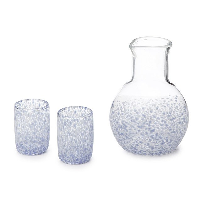 Hand-Blown Glass Sake Set