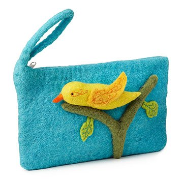 Blue Bird Clutch