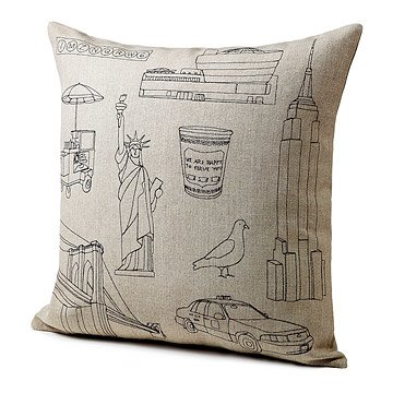 City Icon Pillows