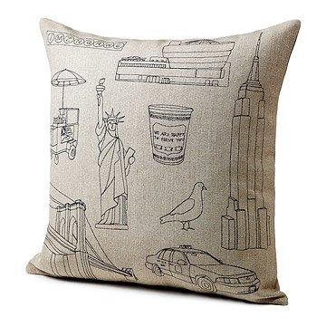 City Icon Pillows
