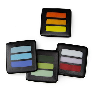 Sandblasted Glass Coasters - Set of 4