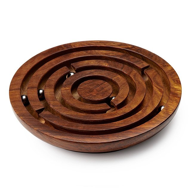 Wooden Labyrinth Game