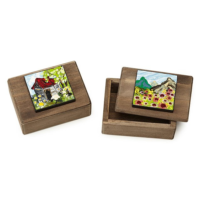 Hand-Painted Keepsake Boxes