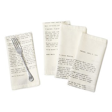 Love Letter Napkins - Set of 4