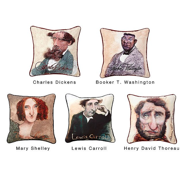 Decorative Literary Caricature Pillows 2