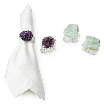 Natural Stone Napkin Rings - Set of 2