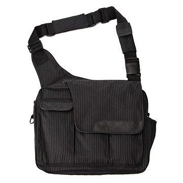 Pinstripe Diaper Dude Bag