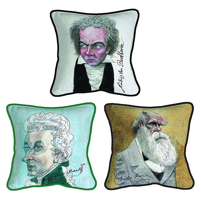 Decorative Iconic Caricature Pillows