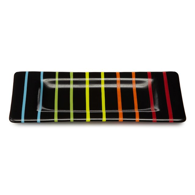 Handmade Striped Rectangle Tray