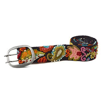 Embroidered Paisley Belt