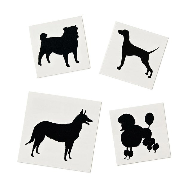 Dogs Temporary Tattoos - Set of 4
