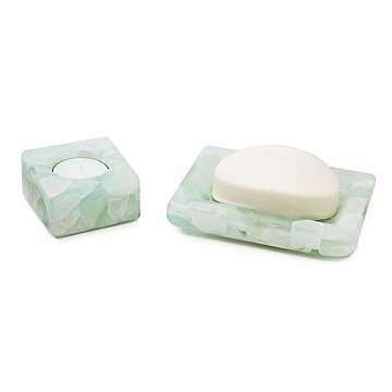Recycled Windowpane Soap Dish and Votive Holder