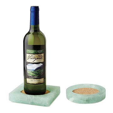 Recycled Windowpane Wine Coaster