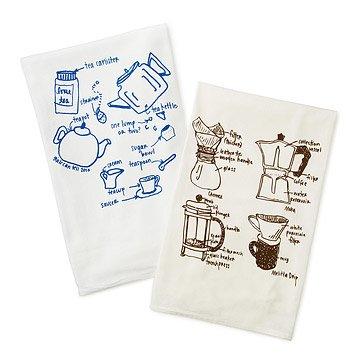 Tea and Coffee Tea Towels - Set of 2