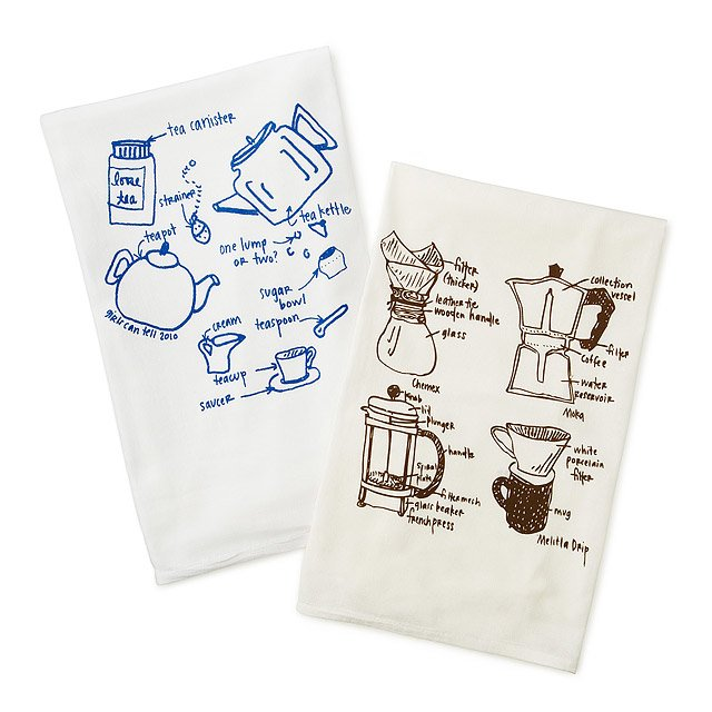 Tea and Coffee Tea Towels - Set of 2