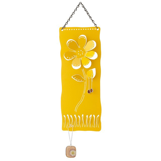 Recycled Metal Daisy Jewelry Hanger
