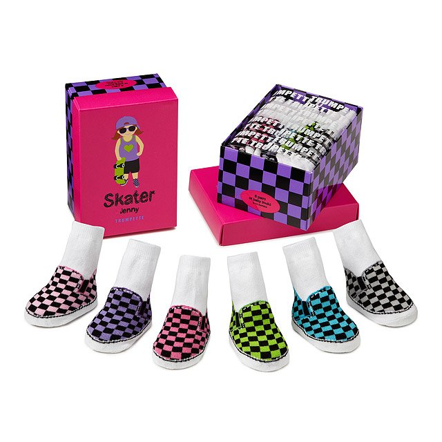 Skater Jenny Infant Socks - Set of 6