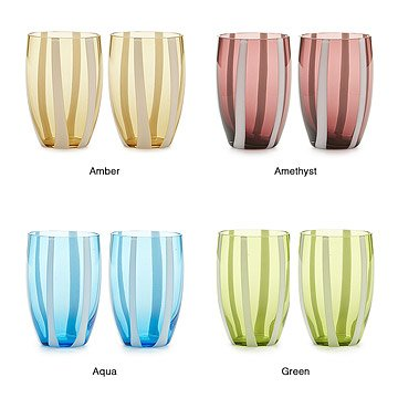 Gessato Glass Tumblers - Set of 2