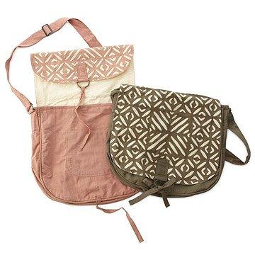 Applique Messenger Bags