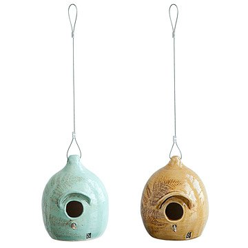 Ceramic Fern Birdhouses