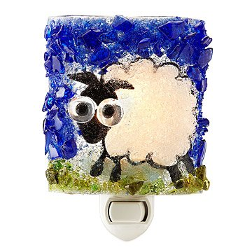Recycled Glass Sheep Nightlight