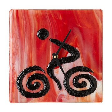Biker Glass Clock