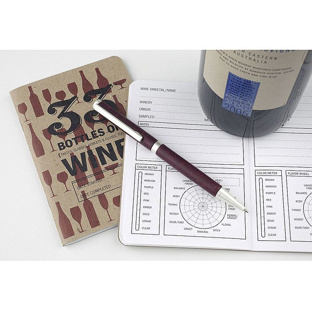 Wine Tasting Notebook and Pen Set 2
