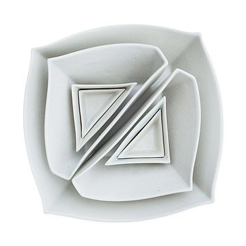 Squares and Triangles Dish Set