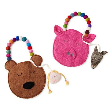 Piggy and Bear Storybook Purses