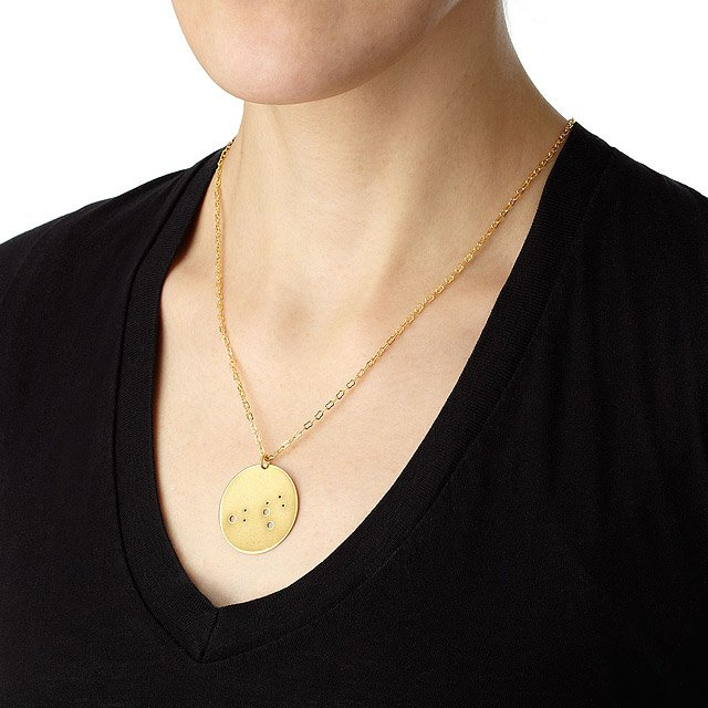 Gold Astrology Necklace 3