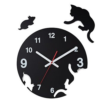 Cat and Mouse Pop Out Clock