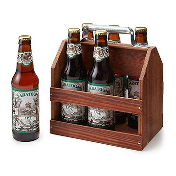 Wooden 6 Pack Beer Tote