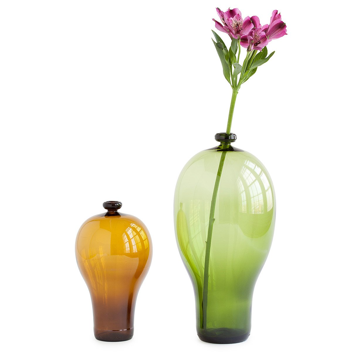 Recycled Beer & Wine Bottle Vases | Recycled Glass, Brown, Green ...