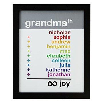 Grandma Infinite Joy Personalized Art