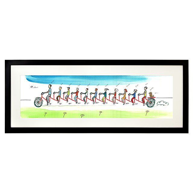Personalized Family Tandem Bike Art 3